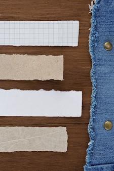 Синий джинс на текстуру дерева