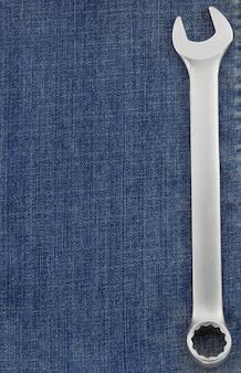 Синие джинсы как фоновая текстура