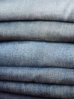 The blue jeans fabric details