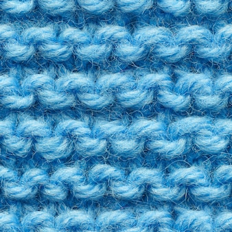 Blue knitted fabric seamless pattern for borderless fill. knitted fabric repeating