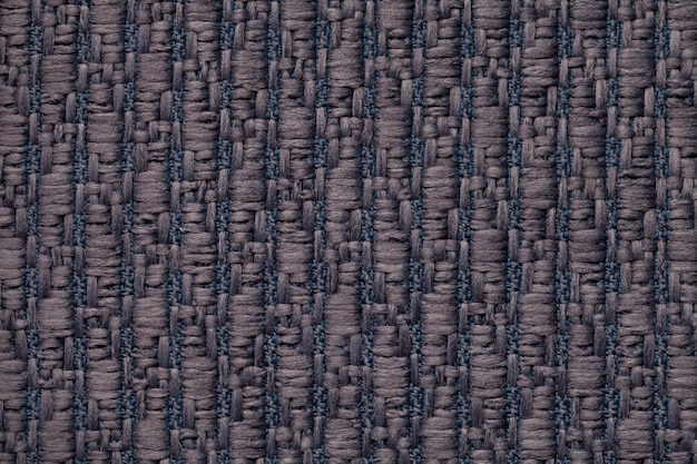 Blue knitted woolen background with a soft, fleecy cloth. texture of textile closeup.