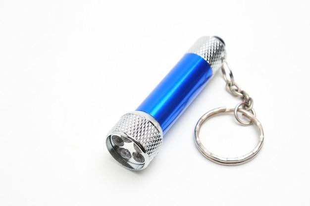 절연 된 전원에서 재충전 할 수있는 파란색 led 손전등