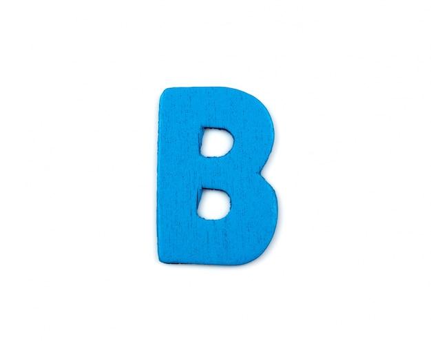 木で作られたブルーの手紙
