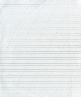 Blue lined detailed paper