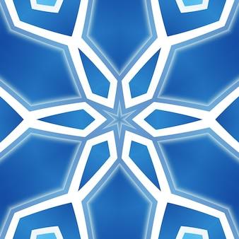青い線は、さまざまな色の柔軟な曲線のストライプを抽象化します。幾何学的レイアウト