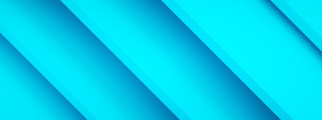 Blue lines background, 3d rendering, panoramic image
