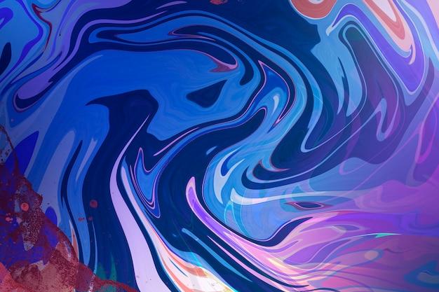 Синий жидкий мрамор абстрактный фон