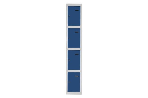 라커룸용 파란색 락커. 체인지 룸 메탈 박스 그레이