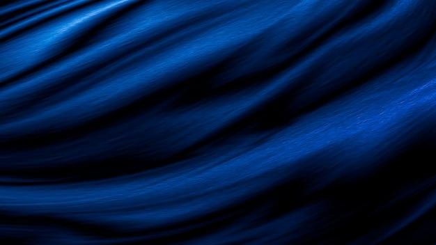 Синий роскошный тканевый фон с копией пространства