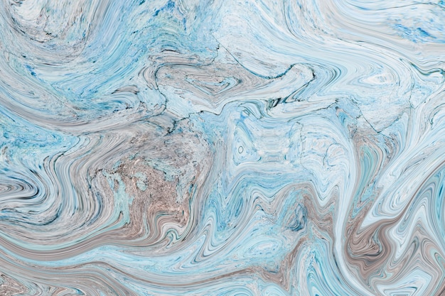 Синий мраморный акриловая краска фон