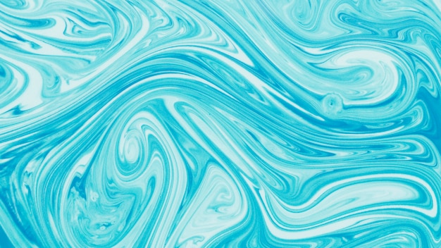Blue marbled liquid unique pattern background