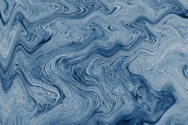 Blue marbled paint texture