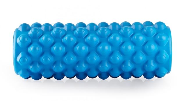 Blue massage foam roller