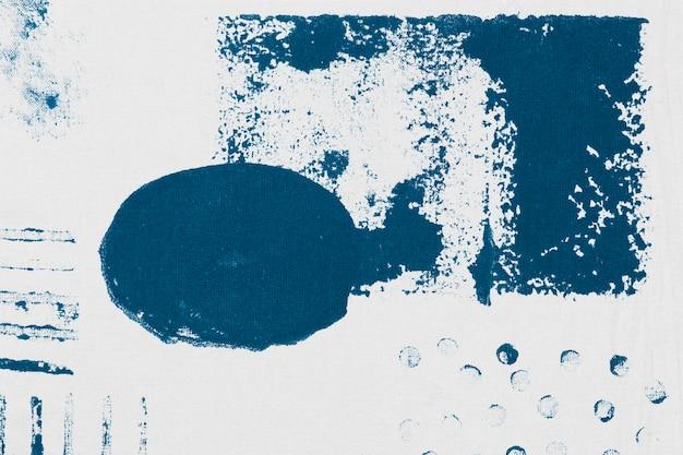 青いメンフィスパターンの背景ブロックプリント