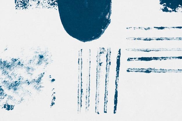 Stampe a blocchi di sfondo con motivo memphis blu