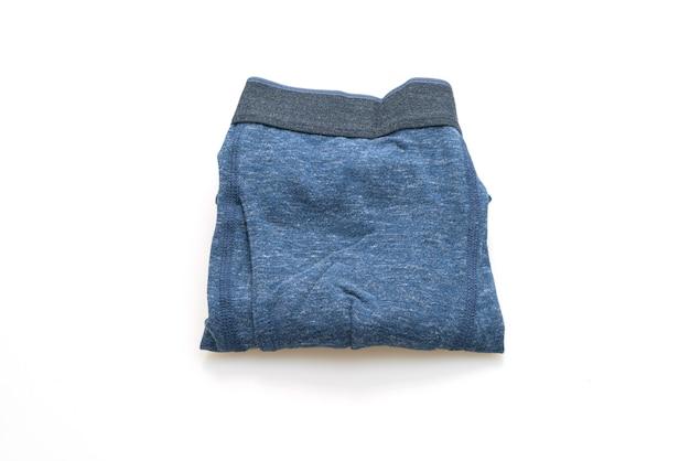 흰색 배경에 고립 된 파란색 남자 속옷