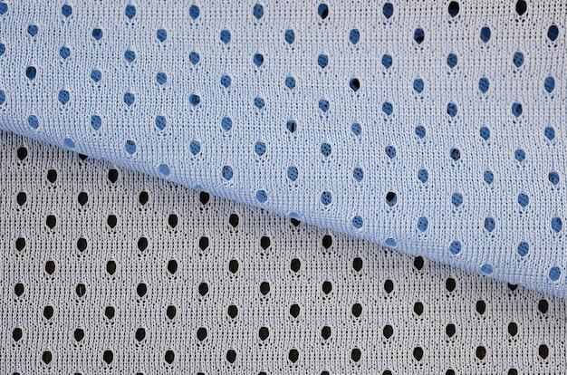 Blue mesh sportswear fabric