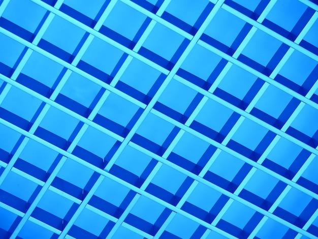 파란색 금속 격자 질감 배경