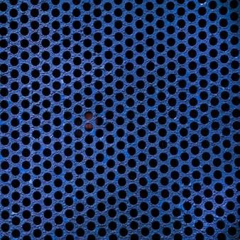Blue metal grid texture background