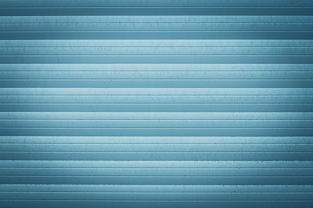 Blue metal jalousie. texture of corrugated surface.