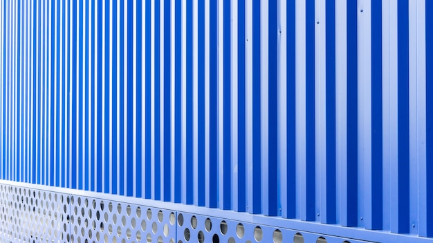 Blue metal sheet of industrial building and construction