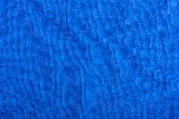 Синий фон ткани из микрофибры