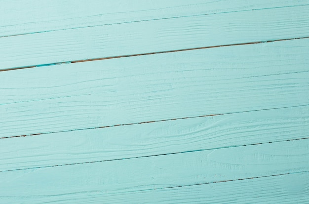 Blue mint painted wooden background