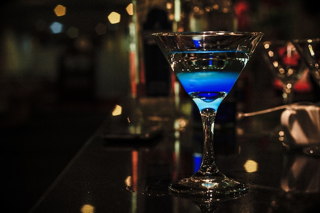 Blue mocktail