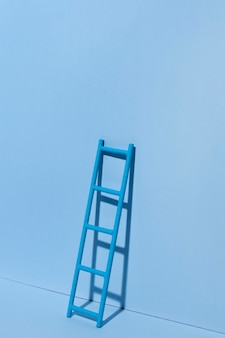 Blue monday with ladder