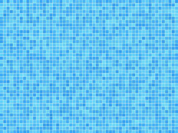 Синий мозаичный фон