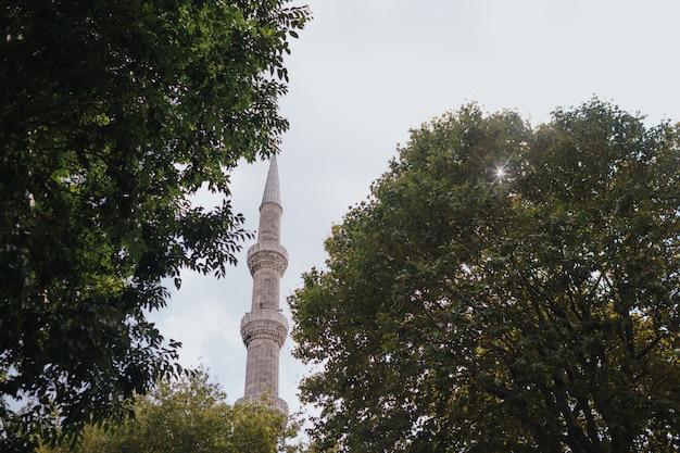 ブルーモスク、トルコ探索、イスタンブール訪問のコンセプト