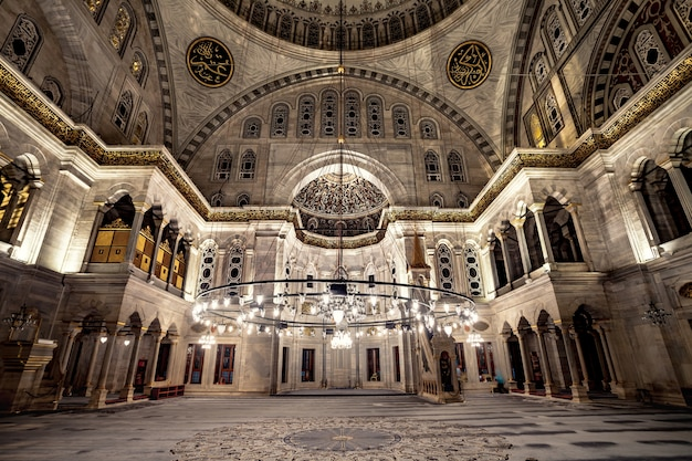 Blue mosque interior.
