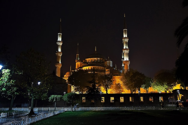 Blue mosque in istanbul of turkey