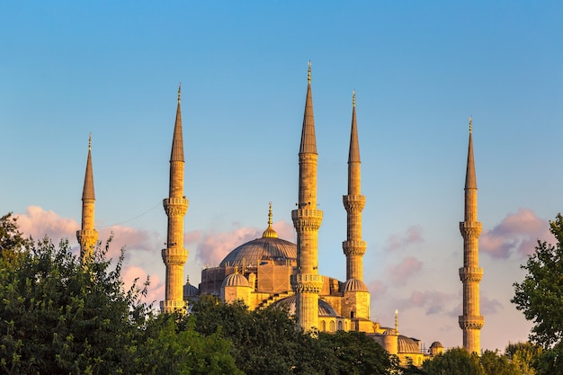 Blue mosque known as sultan ahmet mosque in istanbul, turkey
