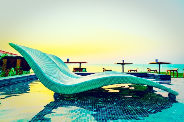Blue nature luxury chair sunset