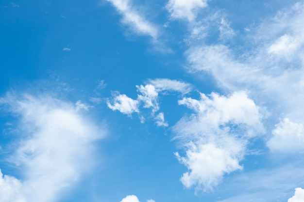 Blue nature sky background and clouds