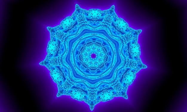블루 네이 비 만화경 패턴 추상적인 배경입니다. 원형 패턴입니다. 추상 프랙탈 만화경 배경입니다. 추상 프랙탈 패턴 기하학적 대칭 장식입니다. 만화경 블루 패턴