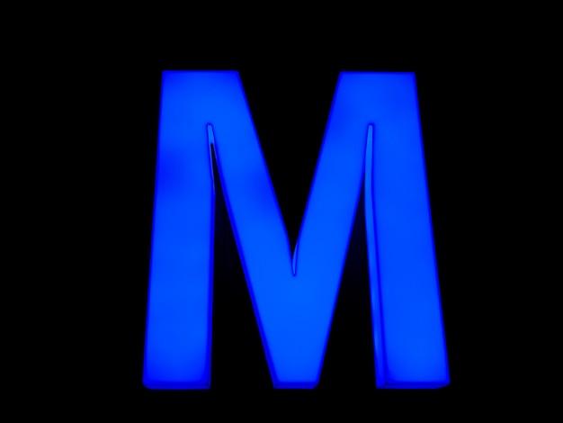 블루 네온 편지 m