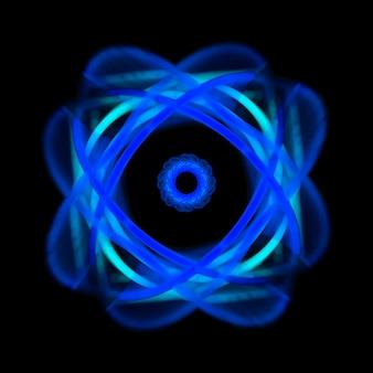 暗い背景に青いネオン光