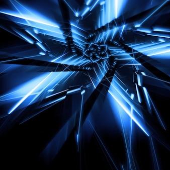 青いネオン星形の背景