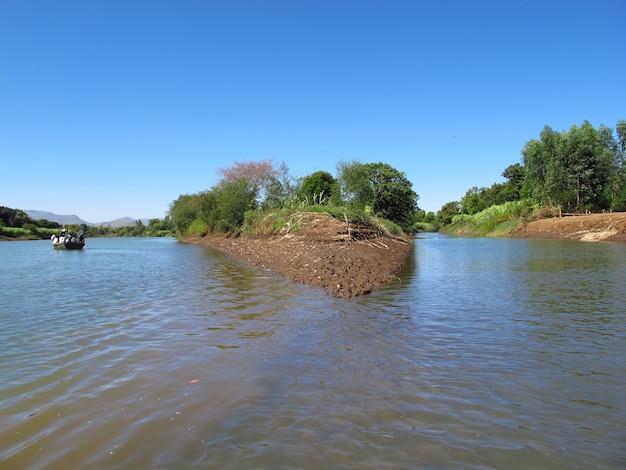 Blue nile river in ethiopia, africa