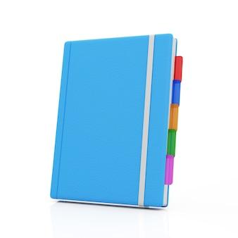 Синий блокнот на белом