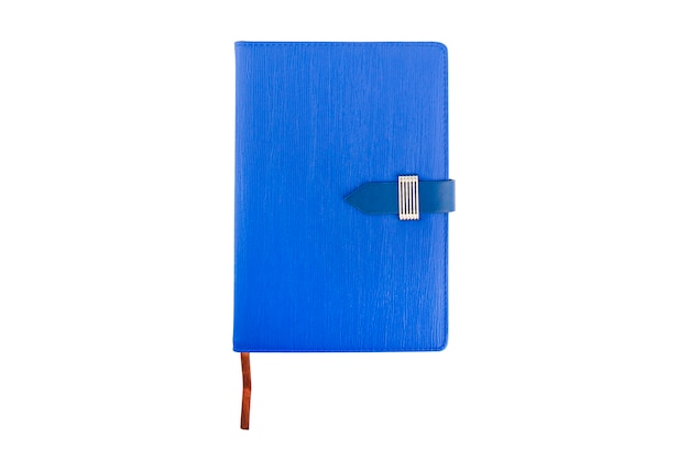 Blue notepad book isolate on white background
