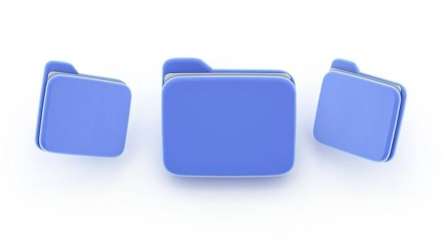 Синий символ пустой папки уведомления