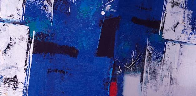 青い油絵の具の抽象的な背景のテクスチャ。