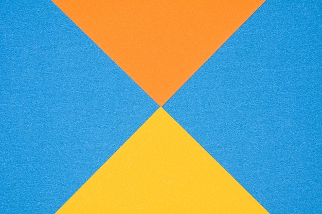 Blue, orange and yellow paper texture