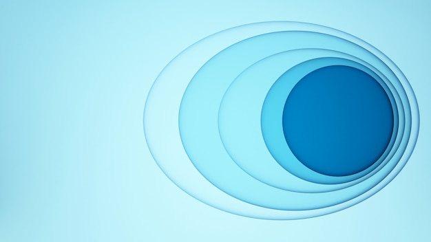 Blue oval with blue circle for artwork background