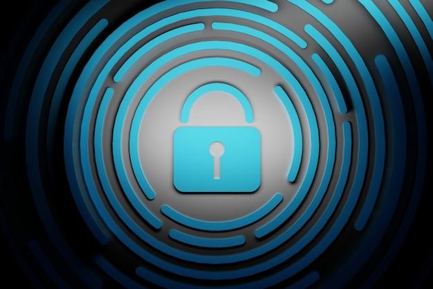 Blue padlock lock