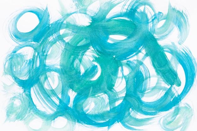 青いペンキの円パターン