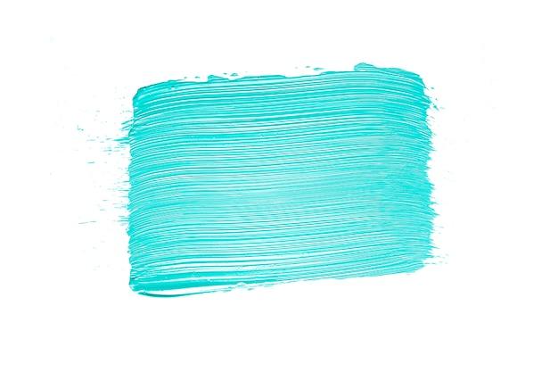 Blue paint smear on white